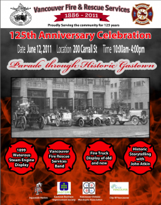 Poster announcing the 125th Anniversary of the VFRS