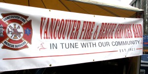 The Vancouver Fire and Rescue Services Band, official band for the City of Vancouver, performing for a special event in May, 2010.