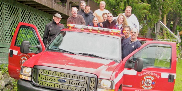 Vancouver Fire and Rescue Services Band Members at year-end picnic