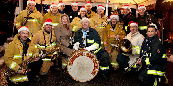 Vancouver Fire and Rescue Services Band at Bright Nights in Stanley Park 2010