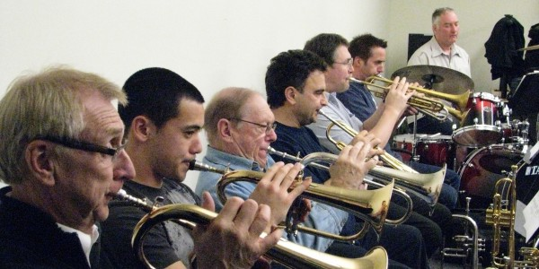 Vancouver Fire and Rescue Services Band in rehearsal
