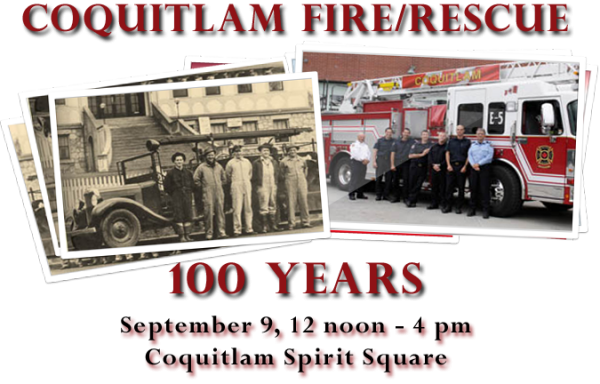 Online poster for Coquitlam Fire/Rescue Event on September 9, 2012