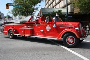 Vintage Fire Truck on parade