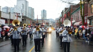 VFRS Band in Chinese New Year Parade, Vancouver 2012