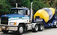 Picture of one of Ocean Concrete's trucks