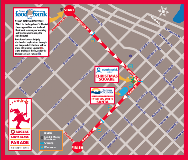 2012 Rogers Santa Claus Parade Map